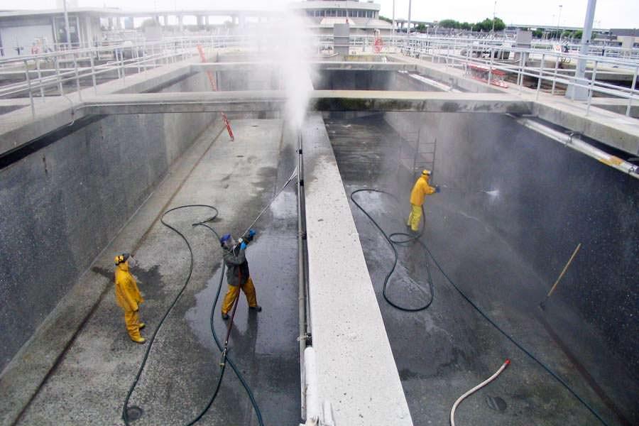 Pressure Washing Contractor Company Water Blasting