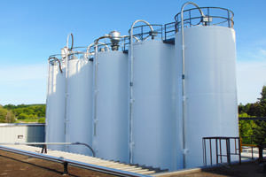 repainted industrial silo farm in Whitby ON
