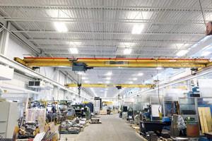 metal ceiling and crane industrial painting in Niagara Falls