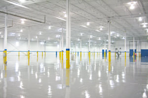 warehouse painting including ceilings and epoxy floor in Pickering