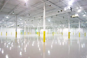 Cambridge commercial painting epoxy floor, ceiling and columns