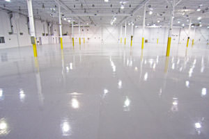 epoxy floor coating project in Peterborough Ontario
