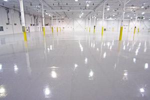 industrial painting epoxy floor coating project in Ingersoll