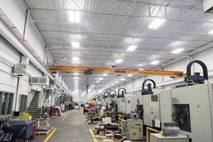 industrial painting metal deck ceiling in Guelph, Ontario