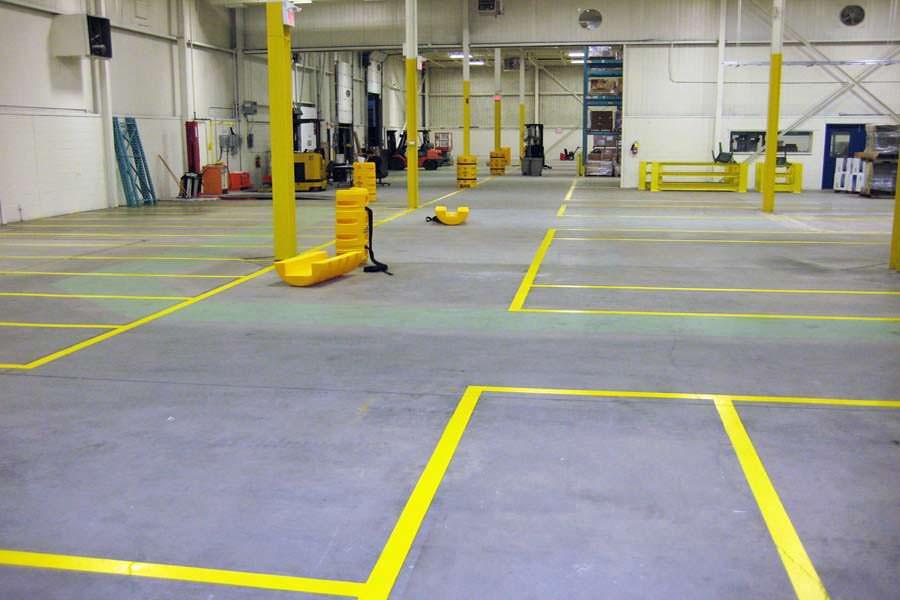 Floor Line & Markings Painting Project
