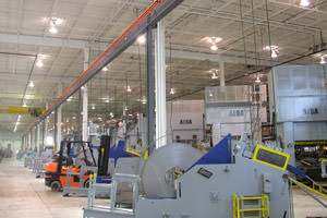 repainting of equipment in a Mississauga, Ontario plant