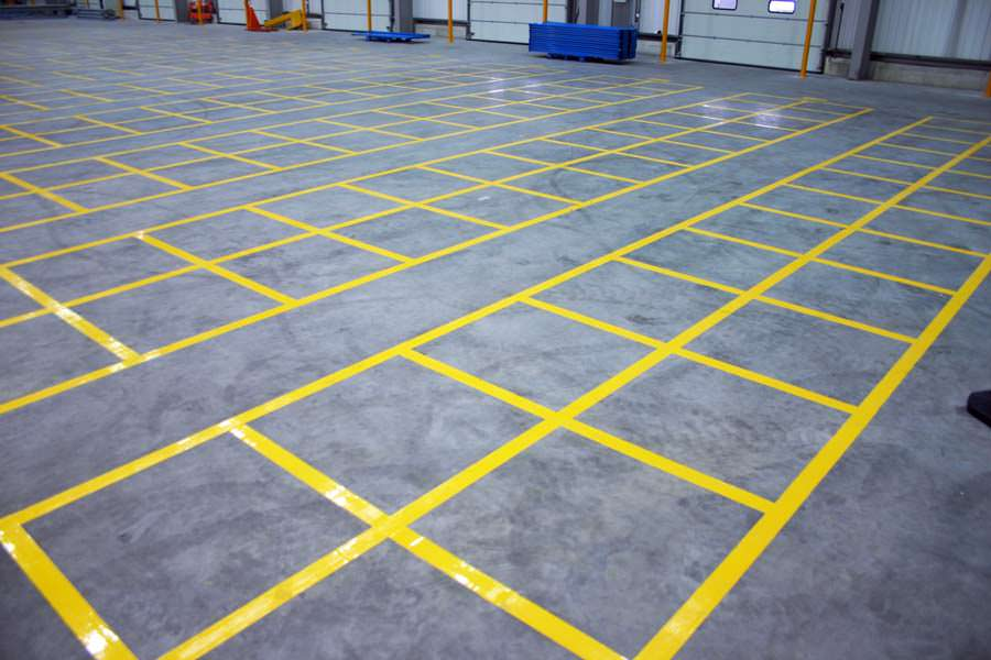 Floor Line & Markings Painting Project