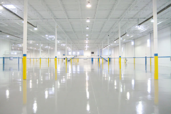 industrial painting of walls and epoxy floors
