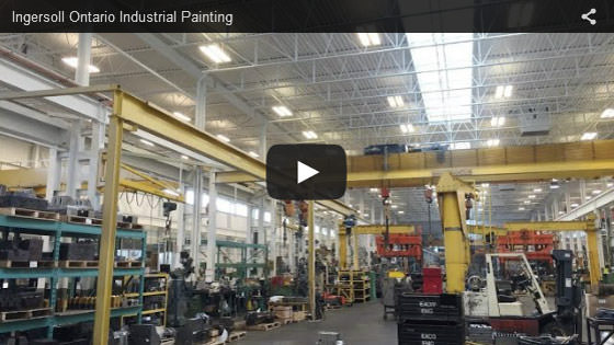 Ingersoll Ontario industrial painting video