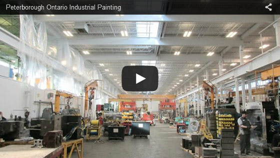 Peterborough Ontario industrial painting video