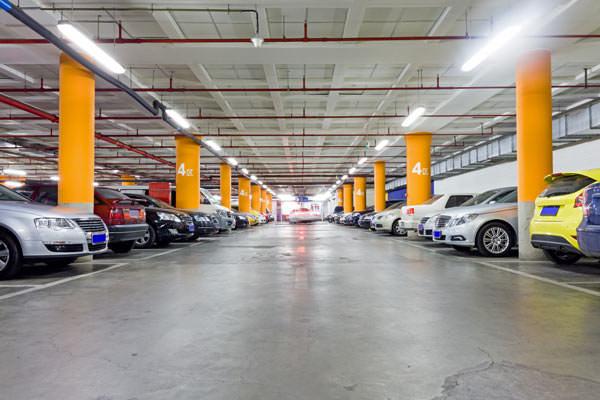 underground parking garage painting
