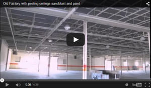 Sandblasting & Painting an Old Factory with Peeling Ceilings