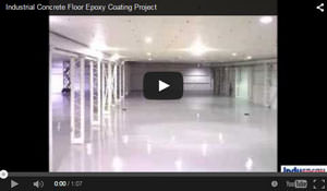 Industrial Concrete Floor Epoxy Coating Project