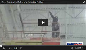 Spray Painting the Ceiling of an Industrial Building